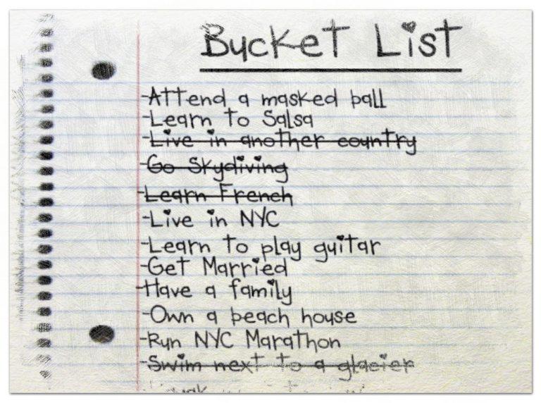 ¿Ya tiene su bucket list? I: Hacer una lista de lo que queremos hacer nos puede llevar a hacerlo