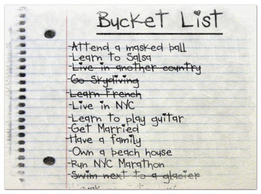 Como hacer una bucket list